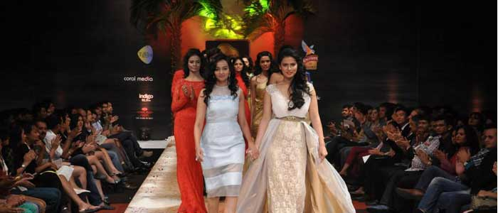 Designer Michelle Salins with Sharmila Mandre